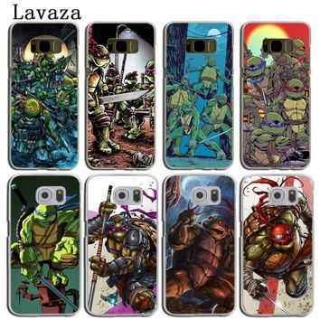 Lavaza Teenage Mutant Ninja Turtles Hard Phone Shell Case for Samsung Galaxy S8 S9 Plus S3 S4 S5 S6 S7 Edge S8 Plus Cover