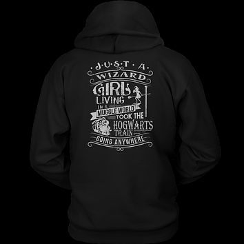 Harry Potter - JUST A WIZARD GIRL - Unisex Hoodie T Shirt - TL01096HO