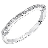 "Artcarved ""Josie"" Curved Diamond Wedding Band"