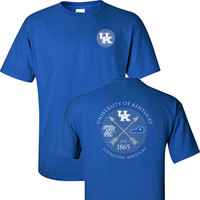 UK Arrows Established 1865 on a Blue Short Sleeve Shirt