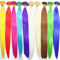 """20pcs Single Color Solid Synthetic Feather Hair Extensions 16"""" Long"""