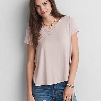 AEO Soft & Sexy Swing T-Shirt, Light Pink