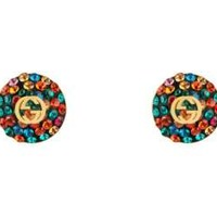 Gucci Crystals interlocking G earrings