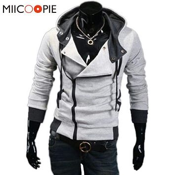 Spring Hoodies Men Slim Oblique Zipper Hoodies Men Tracksuit Hip Hop Jacket Moleton Assassins Creed Hoodies And Sweatshirts 6XL