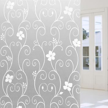 45*100cm DIY Glass Film Frosted Opaque Glass Window Film Bathroom Stickers Mural Art Poster Home Decor Wallpaper