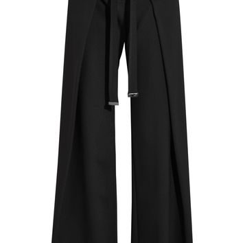 Wrap-effect crepe wide-leg pants | PROENZA SCHOULER | Sale up to 70% off | THE OUTNET