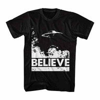 X-Files UFO Believe 1C Black T-Shirt