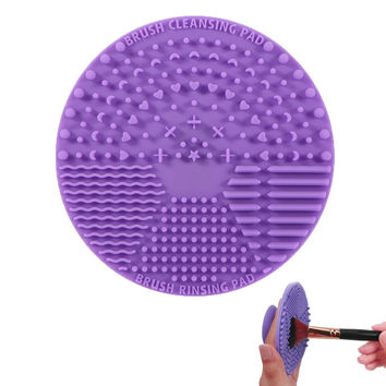 Silicone 10 Colors Makeup Brush Cleaning Mat Professional Cosmetic Brush Pinceles Washing Pad Brush Scrubber with Suction Cup