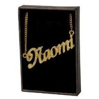 "Name Necklace ""Naomi"" - 18K Yellow Gold Plated"