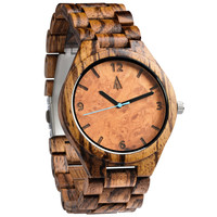 All Wood Watch // All Zebrawood Maple Burl