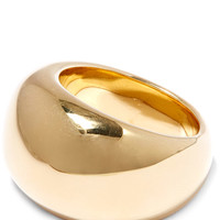 Jennifer Fisher Gold-Plated Cylinder Ring | Accessories | Liberty.co.uk