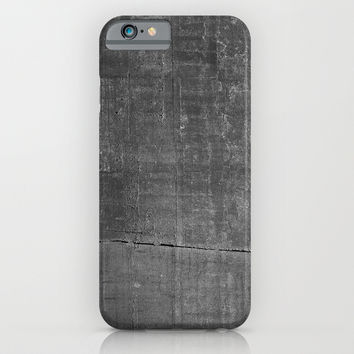 Dark Concrete Texture Print iPhone & iPod Case by Poindexterity
