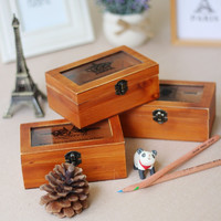 Wooden Storage Box Creative Stationary Gifts Korean Accessory Box [6283156678]
