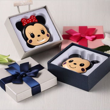 New Cute Cartoon 12000mah Minnie Mickey Charger External Battery Backup  Power Bank For iphone 5 6s samsung s5 s6