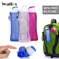 WALFOS 2017 new 500ML Creative Collapsible Foldable Silicone drink Sports Water Bottle Camping Travel my plastic bicycle bottle