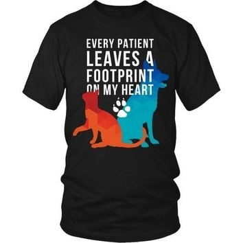 Veterinary T Shirt - Every patient leaves a footprint on my heart