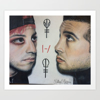 Josh + Tyler Art Print by KJ Designs