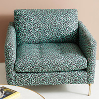 Liberty for Anthropologie Feather Fan Angelina Chair