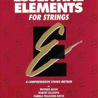 Essential Elements for Strings: Cello Book 1