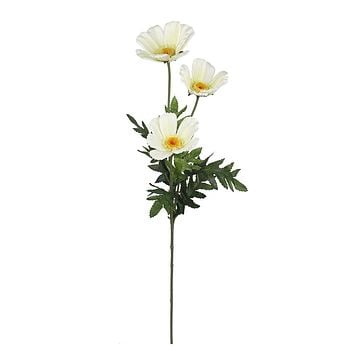 "Daisy Silk Flower Spray in Cream - 28"" Tall"