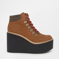 ASOS ERUPT Wedge Ankle Boots at asos.com