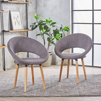 Kagan Fabric Modern Dining Chair (Set of 2)