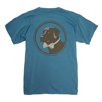 Original Logo Tee in Blue Stone by Southern Proper