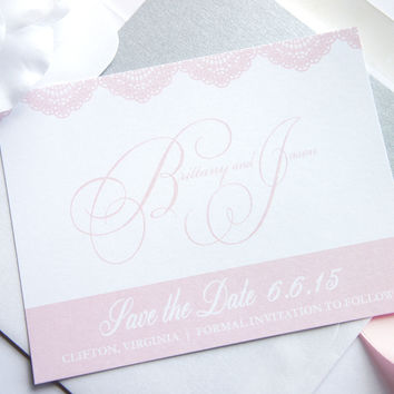 Pink Save the Date Card - DEPOSIT