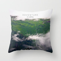 Adventure Is Waiting Throw Pillow by Ann B.