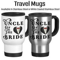Uncle Of The Bride, Wedding Party Gift, Family Of The Bride, Custom Mug, Coffee Cup, 14oz Cup, Stainless, Tea Cup, Travel Mug, Tea Cup