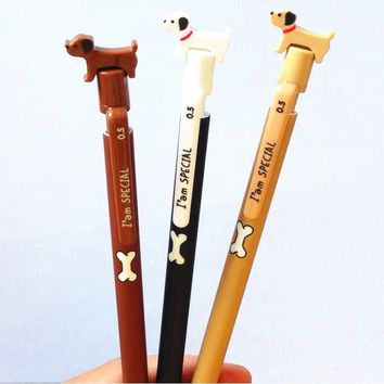 40pcs/lot Kawaii Dog design Mechanical pencil 0.5mm Students'DIY Drawing pen Sketch pens Wholesale office school supplies