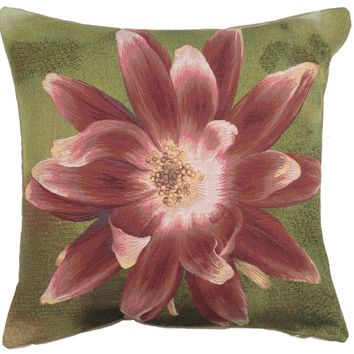 Red Star Flower French Cushion