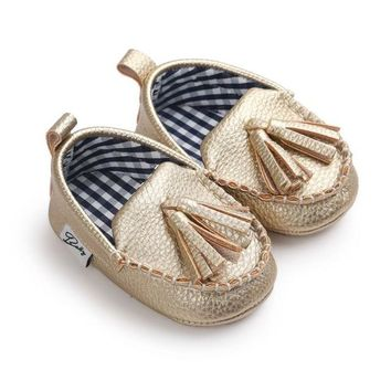 Pu Tassel pendant Leather Shoes