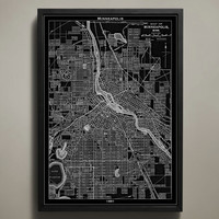 Map Print, MINNEAPOLIS