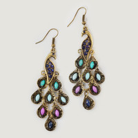 Peacock Drop Earrings - World Market