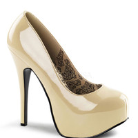 Bordello Cream Patent Stilettos