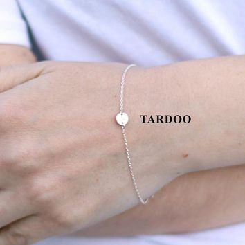 Tardoo Gold Circle Bracelets 925 Silver Cylinder Trendy Charm Bracelet Women Fine Jewelry Simple Gold Chain Link Party Bracelets