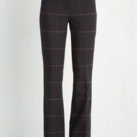 Menswear Inspired, 60s, 70s, 90s, Scholastic Long High Waist Jovial Journalist Pants by ModCloth