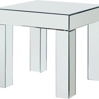 Lainy Mirrored End Table