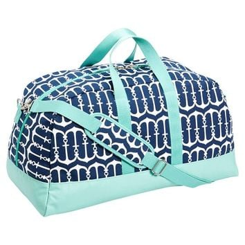 Cape Cod Sleepover Duffle Bag, Navy Anchor