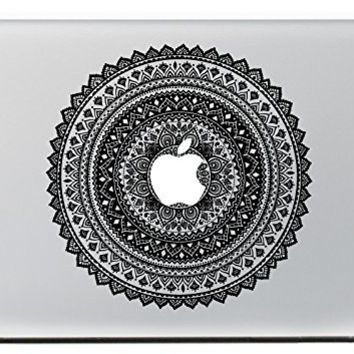 NDAD® Ethic Flower Around Apple Vinyl Macbook Decal Partial Art Stickers Skin for MacBook Air 11.6 inch ,all 11 inch Laptop