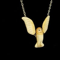 Hanging Barn Owl Necklace