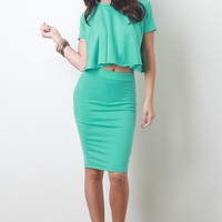 Solid Soft Knit Skirt