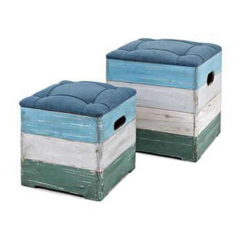 Wood Crate Ottomans