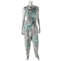 Vince Camuto Womens Printed Sleeveless Jumpsuit