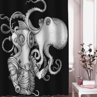 Deep Sea Discovery shower curtain adorabel batheroom hane made