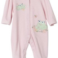 Little Me Frog Friends footie, Pink