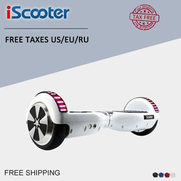iScooter Electric Skateboard 2 Wheels Electric Scooter Patent Balance Hover board Skateboard Powered walkcar hoverboard