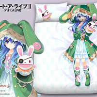 New Yoshino - Date a Live Japanese Anime Bed Blanket or Duvet Cover with Pillow Covers Blanket 13