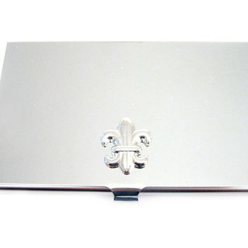 Business Card Holder with Fleur De Lys Boy Scout Pendant